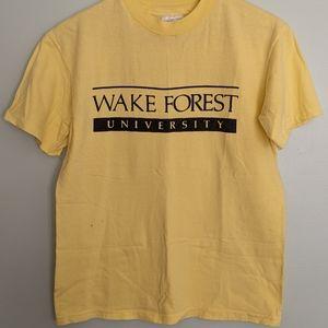 Vintage 1980s Wake Forest University tee